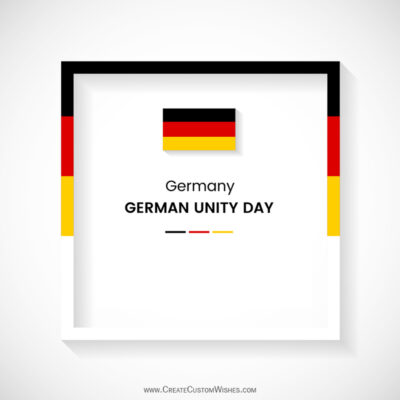 German Unity Day Wishes with Name