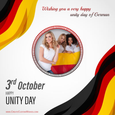 Create German Unity Day Wishes with Photo