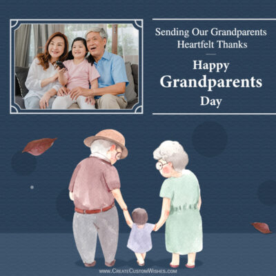 Grandparents Day with Photo Frame Maker