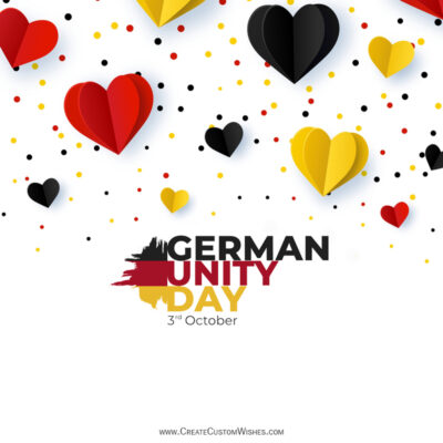 Greeting Cards for German Unity Day 2021