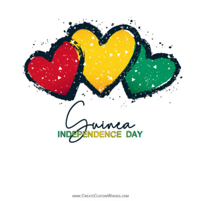Greeting Cards for Guinea Independence Day 2021