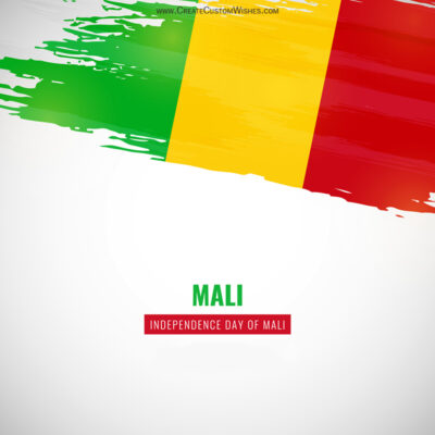 Greeting Cards for Independence Day of Mali 2021