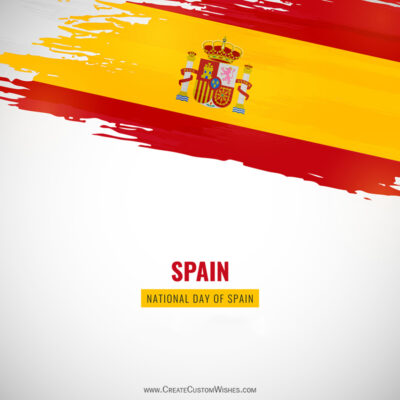 Greeting Cards for Spain National Day 2021
