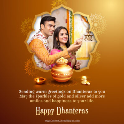 Happy Dhanteras Wishes 2021 Photo Frame Maker