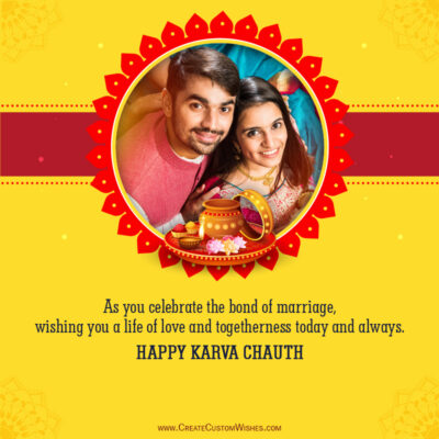 Karwa Chauth Photo Frame Maker Free