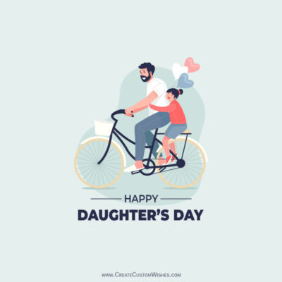 Online Editable Daughters Day Wishes Image