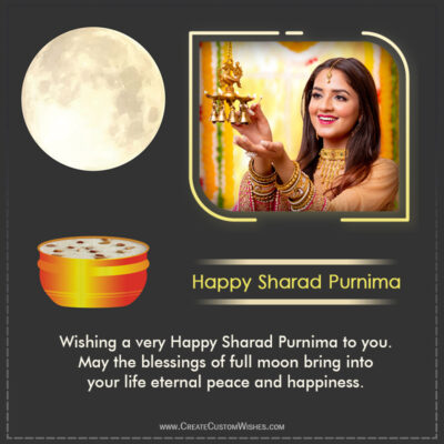 Sharad Purnima 2021 Wishes with your Photo