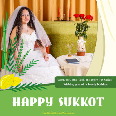 Sukkot Wishes with Photo Frame - Maker