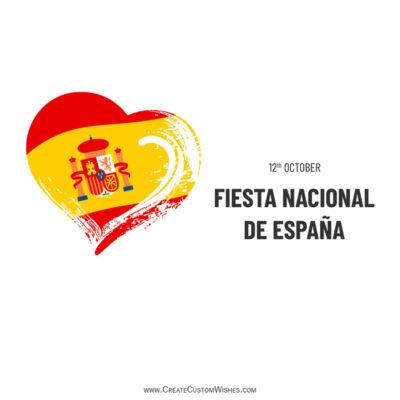 Tarjetas de felicitación editables del día nacional de España