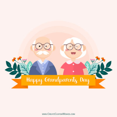 Write Name / Text / Quote on Grandparents Day Wishes Image