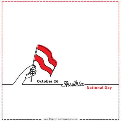 Write Name / Text / Quotes on Austria National Day Image