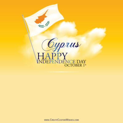 Write Name / Text / Quotes on Cyprus Independence Day Image