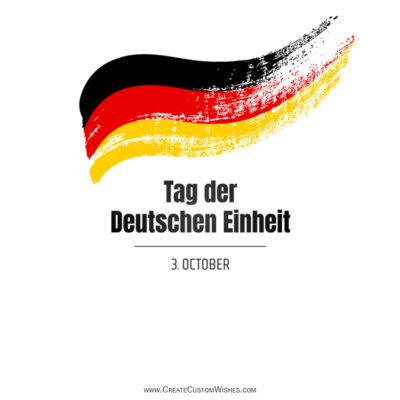 Namen / Text / Zitate zum Tag der Deutschen Einheit schreiben