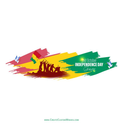 Write Name / Text / Quotes on Guinea Independence Day Image