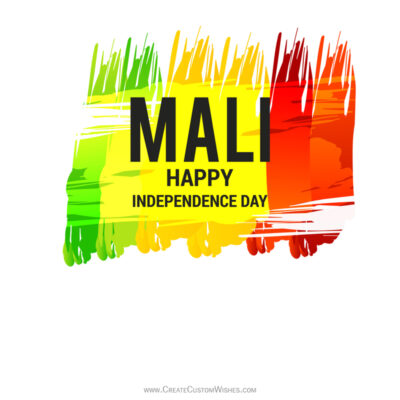 Write Name / Text / Quotes on Mali Independence Day Greeting Card