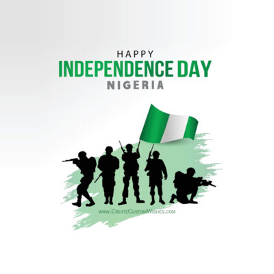 Write Name / Text / Quotes on Nigeria Independence Day Image