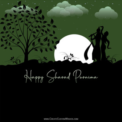 Write Text / Quote / Name on Sharad Purnima Wishes Image