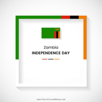 Zambia Independence Day Wishes with Name