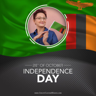 Create Zambia Independence Day Wishes with Photo