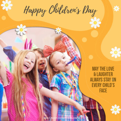 Add Photo & Quote on Childrens Day Greeting Card