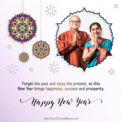 Add Photo & Text on Hindu New Year Greeting Card