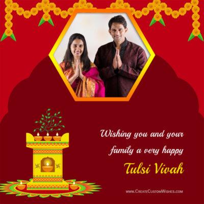 Add Photo on Tulsi Vivah 2021 Greeting Card