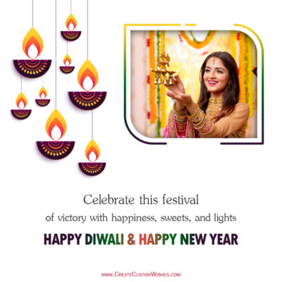 Add your Photo on Diwali 2021 Wishes Image