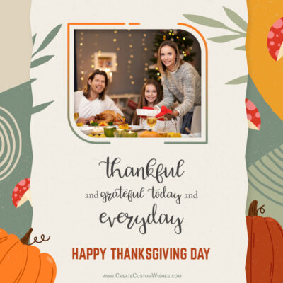 Add your Photo on Thanksgiving 2021 Wishes Image