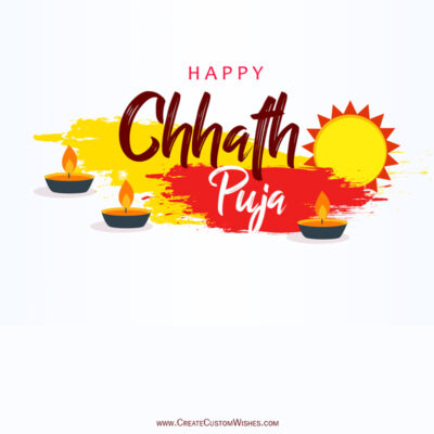 Create Chhath Puja Wishes for Company