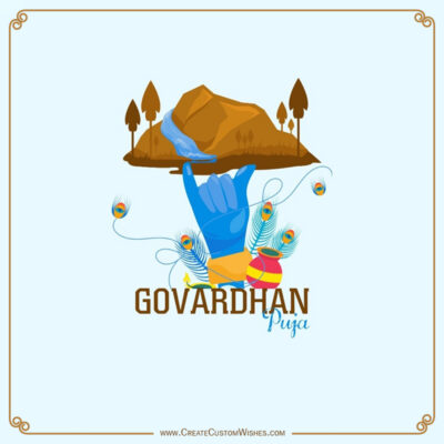 Create Govardhan Puja Wishes with Name
