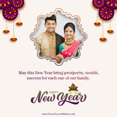 Create Hindu New Year 2021 Wishes Image with Photo