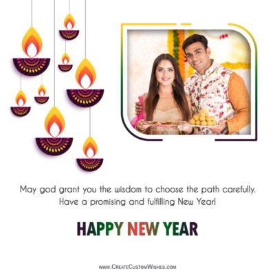 Create Hindu New Year Wishes with my Photo