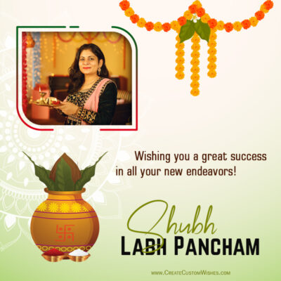 Create Labh Pancham 2021 Wishes Image with Photo