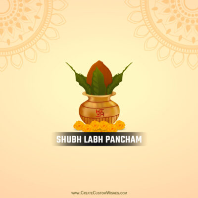Create Labh Pancham Wishes Image for Company