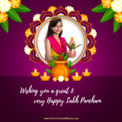 Create Labh Pancham Wishes with my Photo