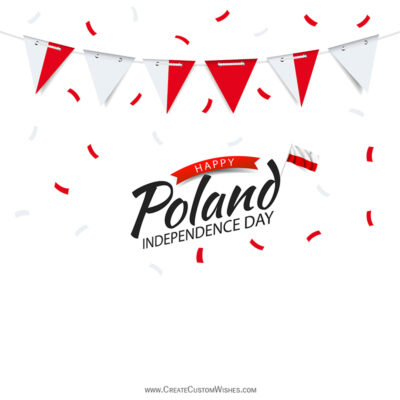 Create Poland Independence Day Wishes Image Online
