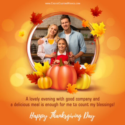 Create Thanksgiving 2021 Wishes Image with Photo
