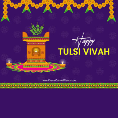 Create Tulsi Vivah Wishes for Company