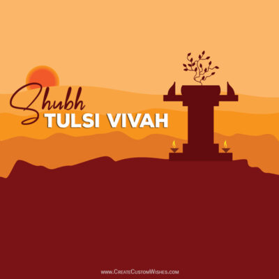 Create Tulsi Vivah Wishes with Name