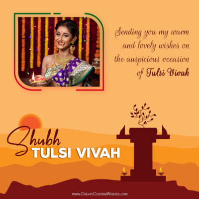 Create Tulsi Vivah Wishes with my Photo