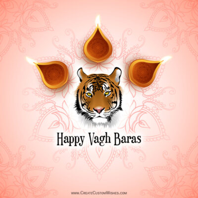 Create Vagh Baras Wishes with Name