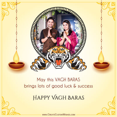 Create Vagh Baras Wishes with my Photo