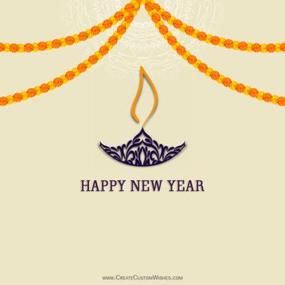 Editable Hindu New Year Greetings for Company