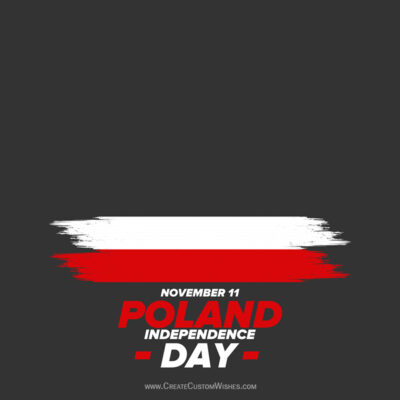 Editable Poland Independence Day Greeting Cards