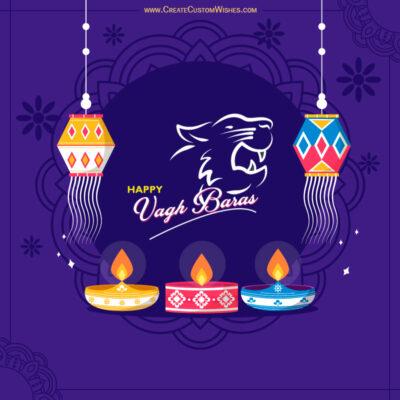 Editable Vagh Baras Greeting Cards