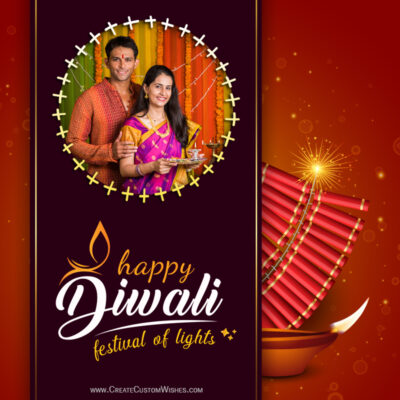 Free Create Diwali Festivity Wishes with my Photo