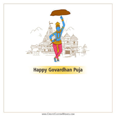 Greeting Cards for Govardhan Puja 2021