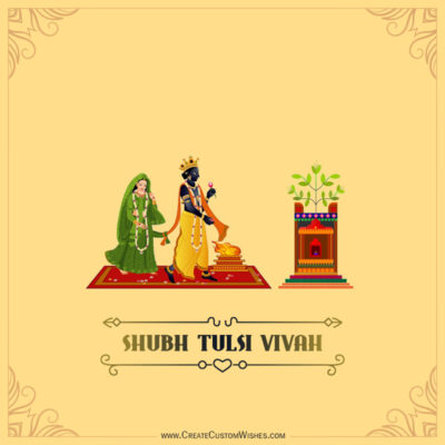 Greeting Cards for Tulsi Vivah 2021