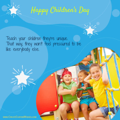 Happy Childrens Day Wishes 2021 Photo Frame Maker