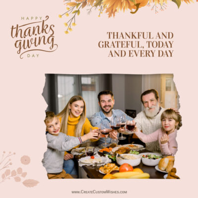 Happy Thanksgiving Wishes 2021 Photo Frame Maker